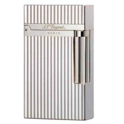 S.T. Dupont Ligne 2 Montparnasse Vertical Lines Lighter – Silver 16817